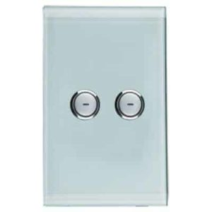 Clipsal C-Bus Wall Switch, Saturn Style, 2 Button