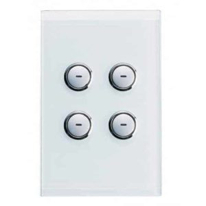Clipsal C-Bus Wall Switch, Saturn Style, 4 Button