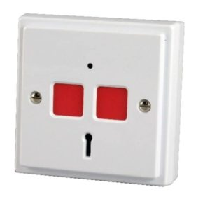 CQR White Flat Plate Panic Button