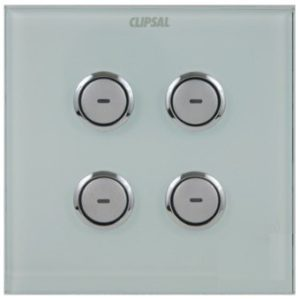 C-Bus Saturn Input Switch 4-Gang Square UK Type, Colour: Ocean Mist
