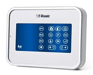 Visonic Wireless Remote TouchScreen Keypad with Proximity Reader (White)