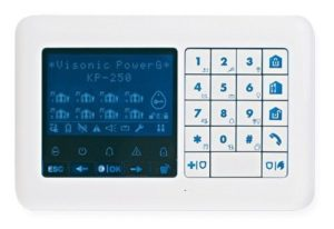 Visonic 2-Way Wireless Remote TouchScreen Keypad with Proximity Reader (White)