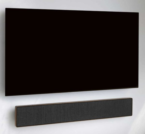 beosound stage oak with TV