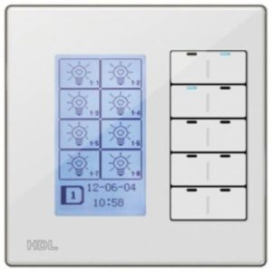 HDL KNX Intelligent DLP 40-Fold Switch EU – White Faceplate & Silver Metal Frame