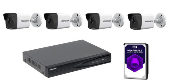 Hikvision Home Security Cameras Kit